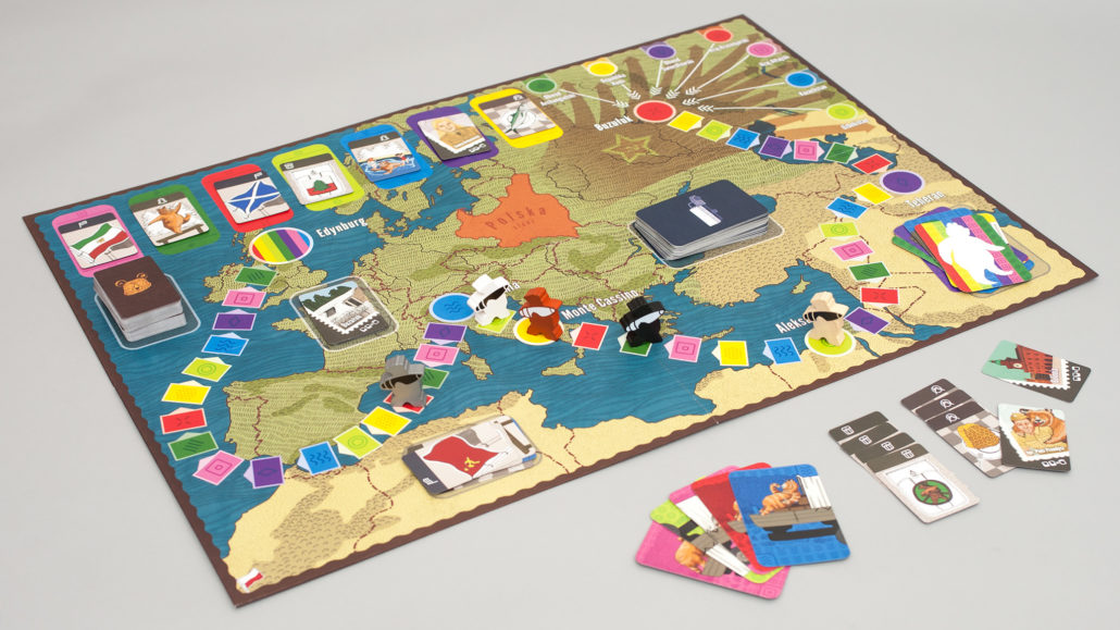 Miś Wojtek – plansza w trakcie gry