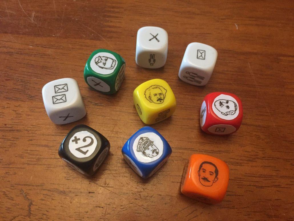 """Prototypowe kostki do gry """"Niepodległa"""""""