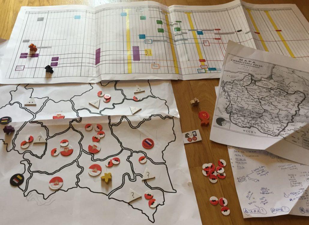 Artystyczne odwzorowanie abstraktu gry
